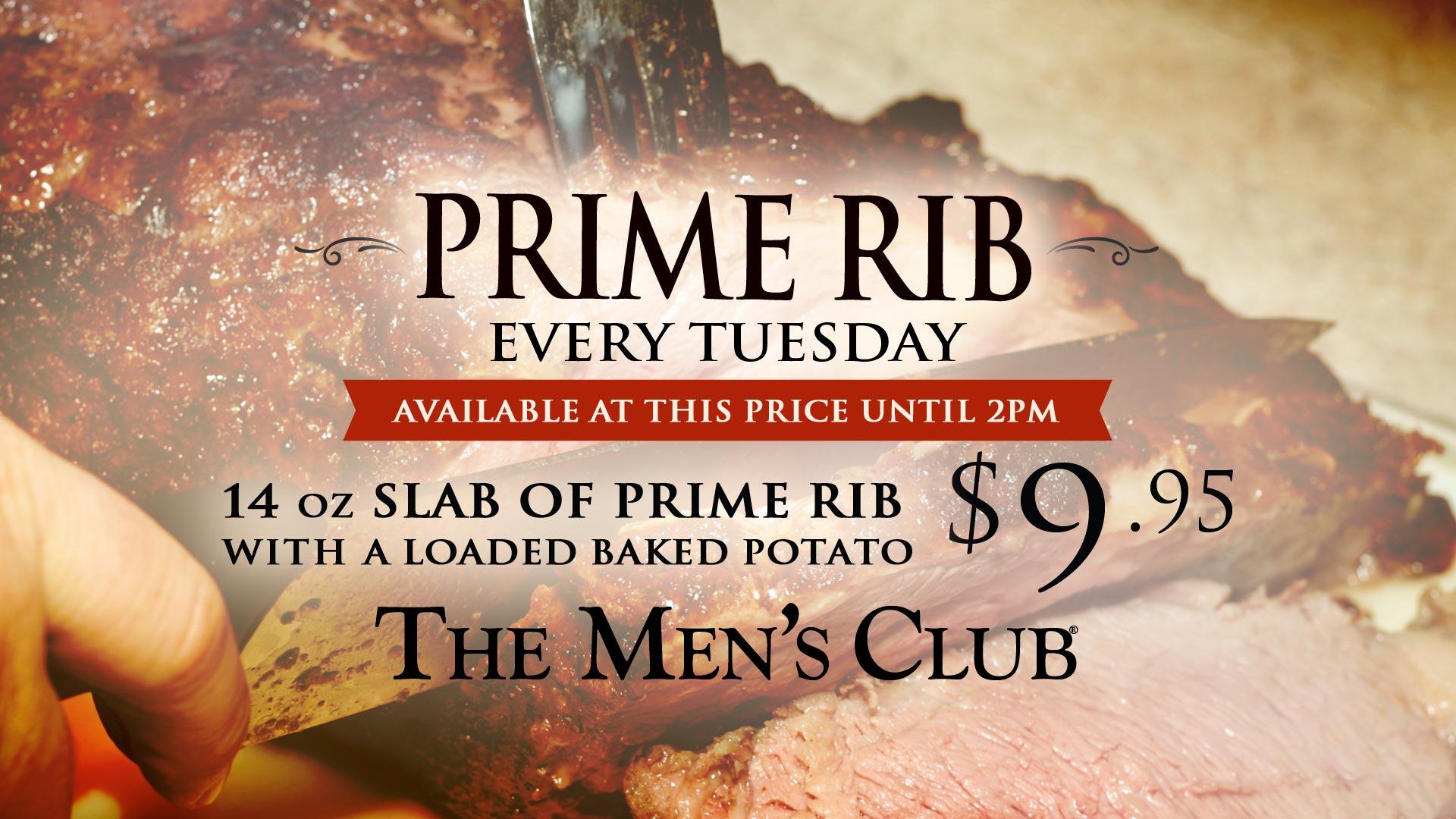 Plate of Prime Rib